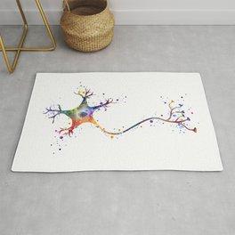 Neuron Art Brain Cell Biology Art Watercolor Neurology Medical Science Art Biology Gift Rug
