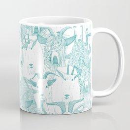 just goats teal Coffee Mug