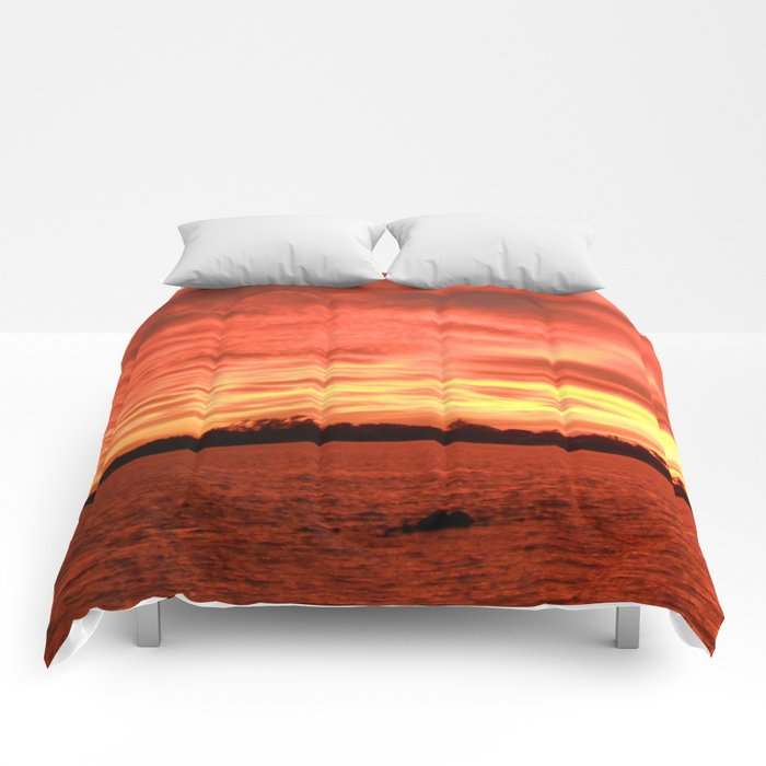 Florida Sunset Horizon Comforters