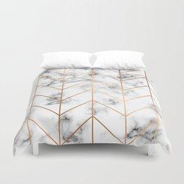 Marble Geometry 057 Duvet Cover