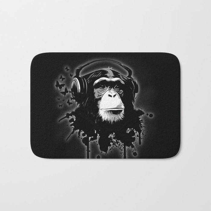 Monkey Business - Black Bath Mat