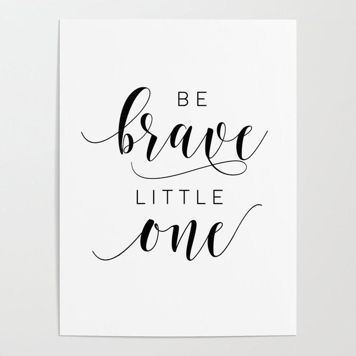 Printable Art Be Brave Little One Nursery Decor Wall Kids