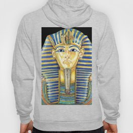 King Tut Colored Pencil Travel Art, Ancient Egypt  Hoody