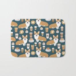Corgi Coffee print corgi coffee pillow corgi iphone case corgi dog design corgi pattern Bath Mat