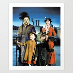 Michael Myers in Mary Poppins Art Print