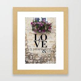 True Love  //  I Corinthians 13:4 Framed Art Print
