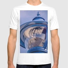 up light... White MEDIUM Mens Fitted Tee