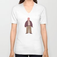 mike wrobel V-neck T-shirts featuring Mike by Mikhail Kalinin