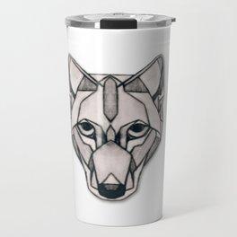 Edges (Wolf) Travel Mug