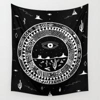 interstellar Wall Tapestries featuring Interstellar Deserts by Kris Tate