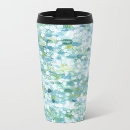 Dotted Coastal Ocean Reflections Travel Mug