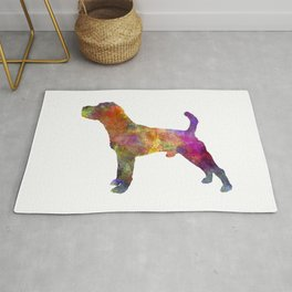 Jack Russell Terrier 01 in watercolor -3 Rug