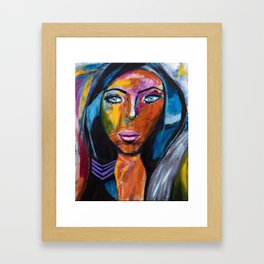 Powerful Woman Framed Art Print
