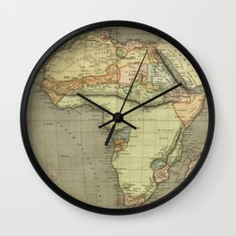 Africa Old Map Wall Clock