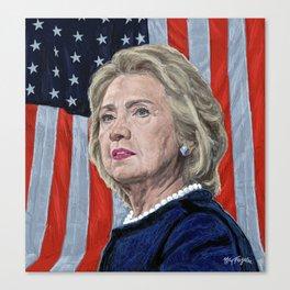 Presidential Candidate Hillary Rodham Clinton Canvas Print