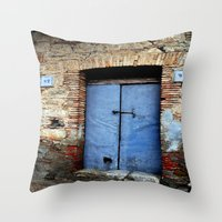 door Throw Pillows featuring door by  Agostino Lo Coco