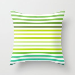Shades of green lines Throw Pillow