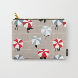 On a rainy day pattern Carry-All Pouch