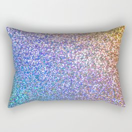 Purple Ombre Glitter Rectangular Pillow
