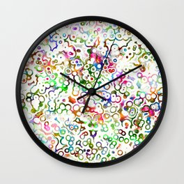 Abstract Microbes Wall Clock
