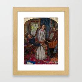 William Holman Hunt - The Awakening Conscience, Tate Britain Framed Art Print