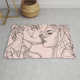 kiss more often Rug