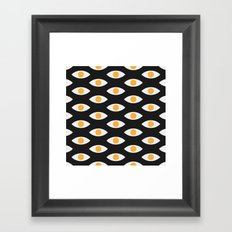 eye pattern Framed Art Print