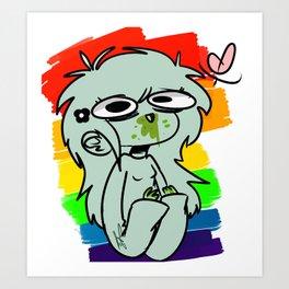 skittle vomit Art Print