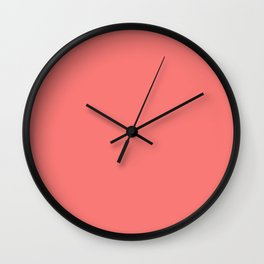 Coral Rose Solid Summer Party Color Wall Clock