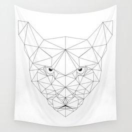 Puma black and white Geometric artwork Wall Tapestry