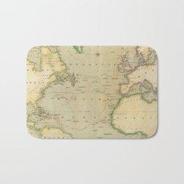 Vintage Map of The Atlantic Ocean (1817) Bath Mat