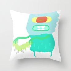 Drip monster Throw Pillow