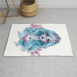 Pearlescent mermaid Rug