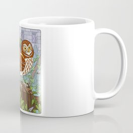 Little Owl with Packed Basket Coffee Mug