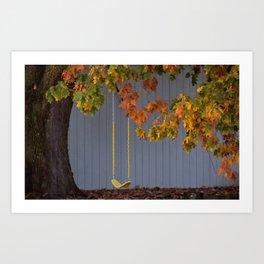Empty Swing Art Print