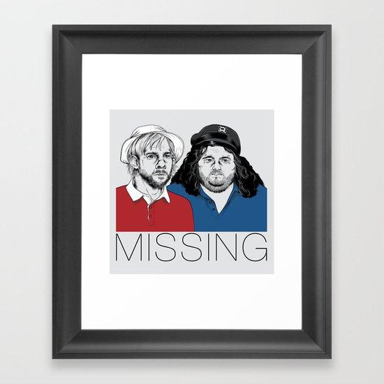 Missing Framed Art Print