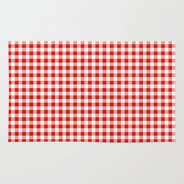 Christmas gingham pattern red and green cute gifts home decor for the holidays Rug