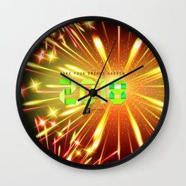 Happy 2018 Wall Clock