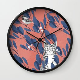 in the wild // repeat pattern Wall Clock