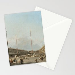 Canaletto - Piazza San Marco Looking South and West Stationery Cards
