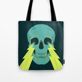 Lightning Skull Tote Bag