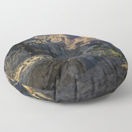 The Grand Canyon and Trees. Floor Pillow