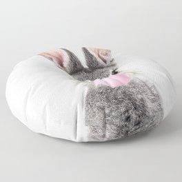 Bunny With Bubble Gum Floor Pillow