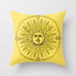Fields of Beams - Yellow Supreme Throw Pillow