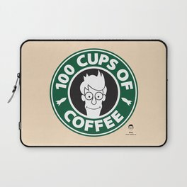 100 Cups of Coffee Laptop Sleeve