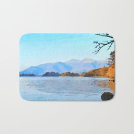 Mountains Behind Derwentwater, Lake District, Cumbria, UK Bath Mat