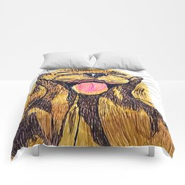 Happy otter Comforters