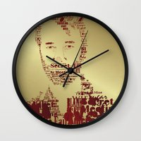 the national Wall Clocks featuring The National by Luke Eckstein