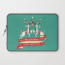 Christmas Deers with baubles Laptop Sleeve