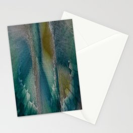 Industrial Wings in Teal Stationery Cards